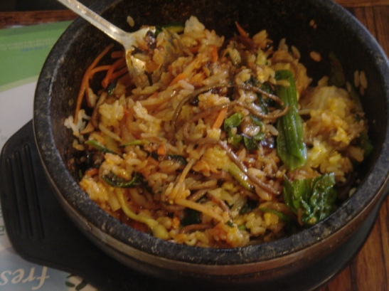 bibimbap after mixing