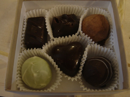 Box of Kee's Chocolates