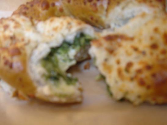 Feta-Spinach Pretzel Innards
