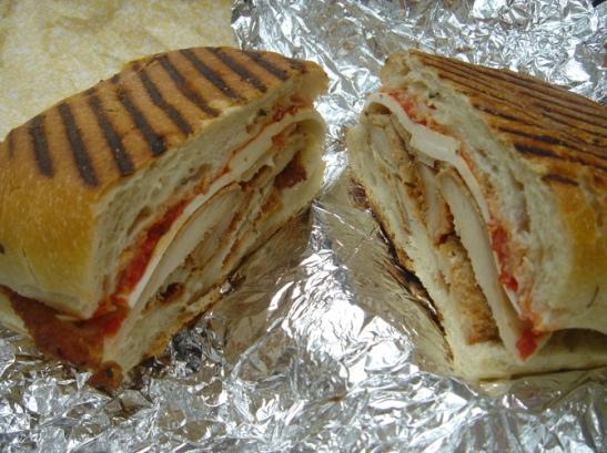Chicken Mozzarella Tomato Sandwich