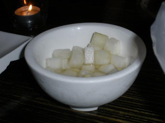 white radish cubes
