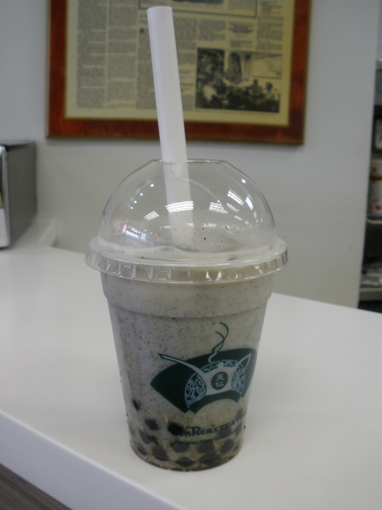 Small Black Sesame Bubble Tea